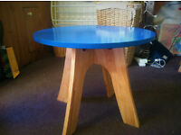 Beautiful Blue Side Table