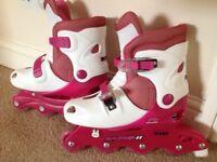 Girls roller blades size 1-3