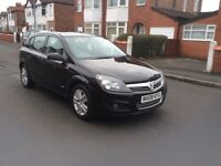 2008 Vauxhall Astra 1.6 SXI 5dr hatchback petrol manual black colour low mileage full history £1695