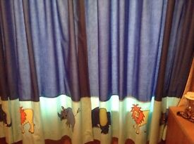 Jungle Animals Curtains and Lightshade