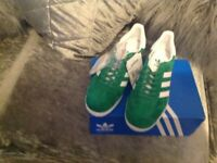 Green adidas gazzels new size 6