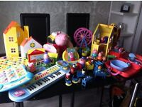 Complete collection of peppa pig toys, lots of different sets and characters