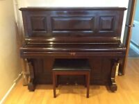 Eungblu of London upright piano, good condition for age.