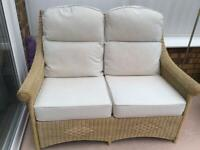 2 seater cane sofa and 2 chairs