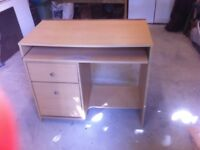 Computer Desk 90cm x 77cm x 50cm. 2 drawers & pullout table Good condition £10 ono