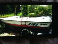 50 HP fletcher boat, 4 seats with trailer