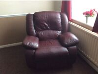 Single recliner rocking chair