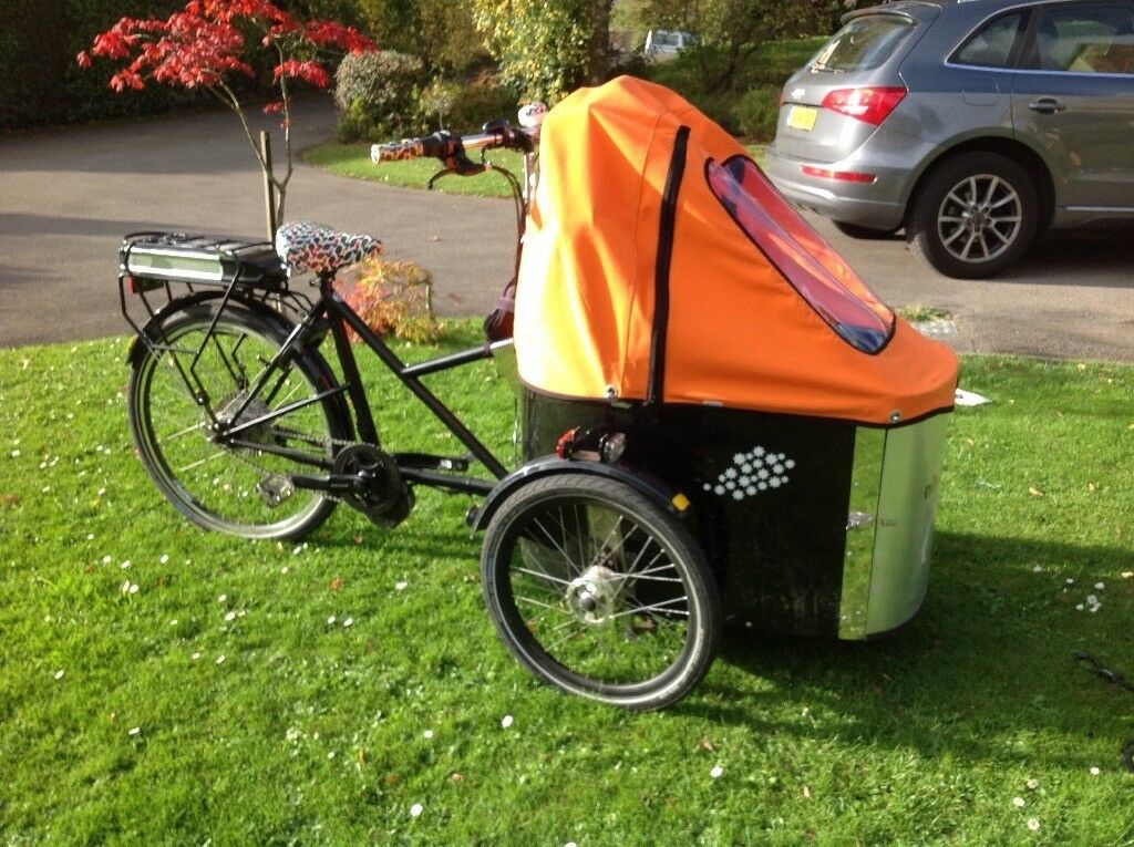Nihola electric cargo trike bicycle
