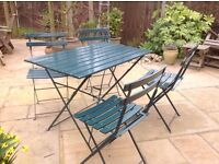 Bistro style garden table and 4 chairs