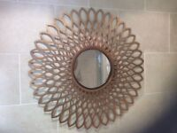 Gold/bronze large wall mirror.