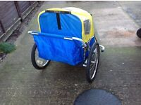 Double buggy child trailer / Trail A Tot Trailer / bike trailer (compact)