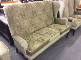 Wing Back Parker Knoll,Style Settee