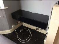 Black gloss wall TV unit