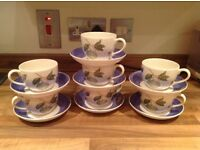 7 Wedgwood Sarah's garden cups and saucers immaculate