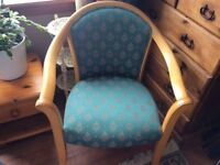 Parker knoll tub chair green fabric