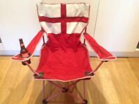 World Cup Parties & BBQ's - England Chair; Stella Artois glasses; Jupiter bottle opener (Belgium)