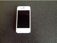 iPhone 4 in white excellent condition on 02 network.