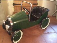 Vintage Style Racing Green Pedal Car