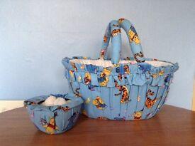 """Winnie the Pooh"" baby gift basket"