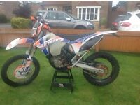 KTM 500exc, 6days 2012 model, including super Moto wheels