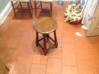 Small solid wood side table by local furniture maker Simon Simpson