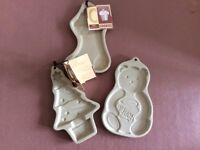 M & S Cookie or Shortbread Stoneware Moulds