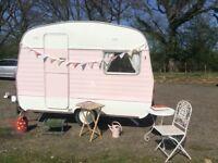 Vintage retro classic Abbey 1972 10ft 3 berth caravan cath kidston furnishings