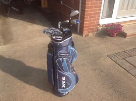 Ladies golf set with bag and trolley