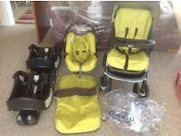 Graco push chair / pram and car seat with docking platform