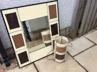 Matching mirror and lamp