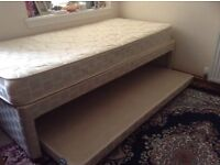 Single Bed with guest bed and mattress