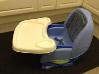 BABY/CHILD'S BOOSTER SEAT FOR DINING CHAIR OR USE FREE-STANDING