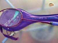 Ladies badminton racket with cover