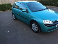 2003 Vauxhall Corsa 1.2 Life twin port Petrol 5 Drs Hatchback 52000miles ServiceHistory 12 Month Mot