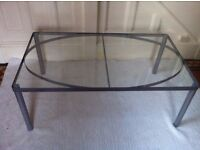 Modern Glass Coffee Table Excellent New Condition / Can Deliver