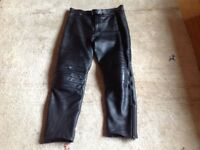 WOLF LEATHER MOTORCYCLE TROUSERS