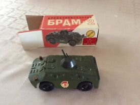 Russian Vintage USSR metal diecast military toy vehicles