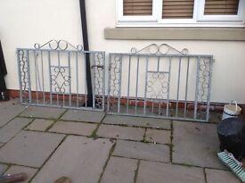 Heavy galvanised driveway /garden Gates