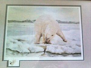 Polar Bear On Ice by Vicki Waring