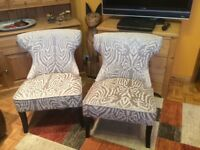 A PAIR OF BEDROOM CHAIRS