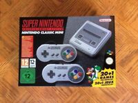 BRAND NEW - Super Nintendo SNES Mini Classic Console with 21 Games + 2 Controllers - NEW - IN HAND