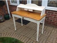 Pine console table/desk