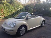 Cream Convertible volkswagen beetle 12 Months MOT