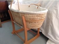 Moses basket with stand form John Lewis
