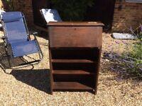 Small wooden bureau bookcase