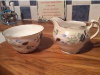 Ridgeway potteries, sugar bowl and jug.
