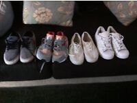 4 pair of trainers for sale