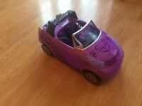 Monster high dolls scaris city of frights doll convertible car
