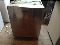 a.e.g stainless steel dishwasher,has hidden control buttons,£250.00