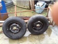 """Wheels and tyes,,,,tyre size 185',,,14 ,,,£30 for both good tyres""""""""07745796065"""
